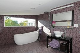 Pink Mosaic Tile Bathroom