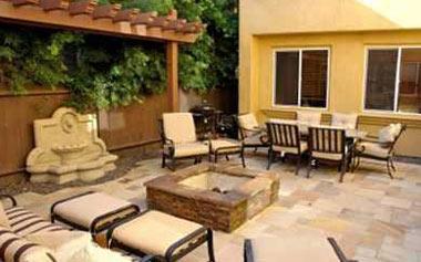 tile patio and firepit - Patio Tiles Ideas