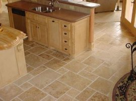 Kitchen Floor Travertine Tile
