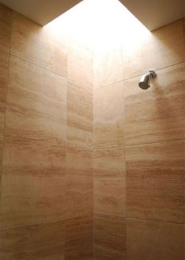 Shower Room w/ Wood Tile