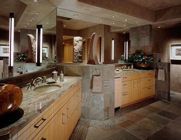 Slate tile bathroom tile everything there is to know - Slate tile bathroom floor ...