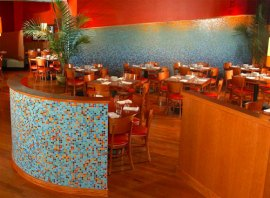 Mosaic Glass Tile in Restaurant