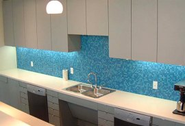 Mosaic Glass Tile Backsplash